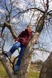 Girl will climb on tree