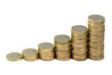 Monete da un euro in crescita poster