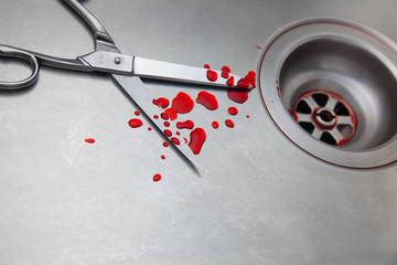 forbici e sangue