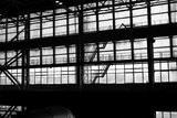 Silhouette of an industrial facility
