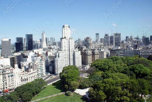 Widok z lotu ptaka centrum Buenos Aires