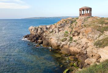 pavilion on sea coast