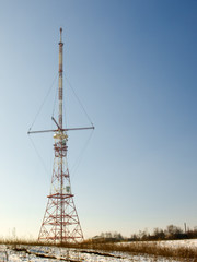 Red And White Antenna
