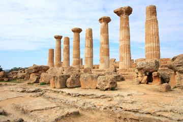 Sicily - ancient Greek temple in Agrigento