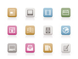 Media and information icons - Vector Icon Set poster