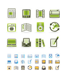 Media and information icons - Vector Icon Set
