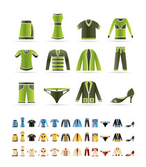 Clothing Icons - Vector Icon Set  - 3 colors included