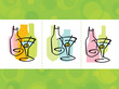 stock vector : Colorful abstract martini cocktail Icons; layered file...