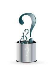 question marks bin