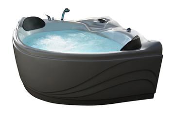 Bubbling Jacuzzi Tub isolated on white