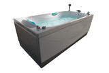 Bubbling Jacuzzi Tub isolated on white poster