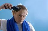 Self-service barber poster
