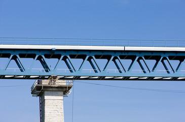 detail of railway viaduct, Znojmo, Czech Republic