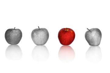Äpfel in Reihe