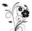 Vector - Beautiful black abstract plant