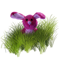 Osterhase in pink