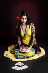 Gypsy woman tell fortunes