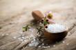 Leinwanddruck Bild - Bath salt