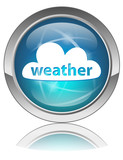 WEATHER Web Button (forecast news conditions internet vector) poster