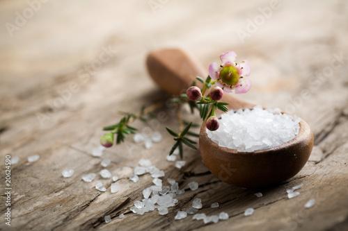 Leinwanddruck Bild Bath salt