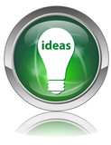 IDEAS Web Button (Innovation Creativity Light Bulb Eureka Vector poster