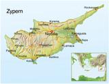 Landkarte von Zypern