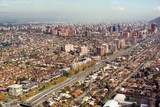 Aerial view of President Kennedy Expressway, Santiago, Chile poster