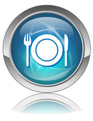 RESTAURANT Web Button (Tourism Hotel Cuisine Guide Food Reviews)