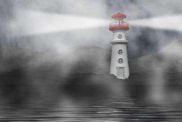 phare dans le brouillard