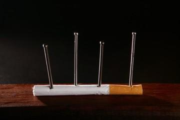 Nicotine tobacco addiction cigarette concept