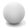 golf ball - with clipping path