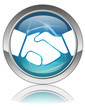 HANDSHAKE Button (Contract Signature Deal Business Agreement OK)