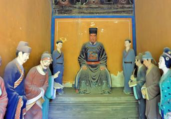 Beijing, Dongyue temple. Zhengyi taoist deities