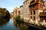 Il Fiume Ill nella Petite France - Strasburgo - Francia poster