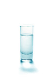 Abstract glass with fluid on a white background poster