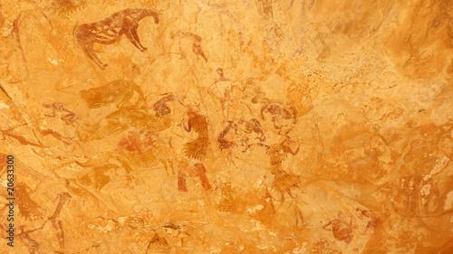 Staande foto Algerije Peintures rupestres