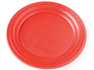 red disposable plate