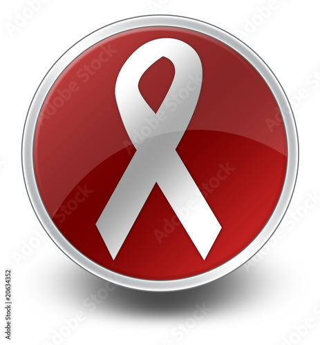 "Glossy Icon ""Awareness Ribbon"""