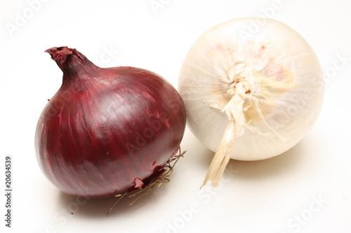 Oignon rouge et blanc