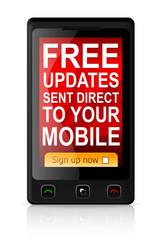 Mobile updates banner