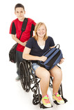 Disabled Student and Brother poster