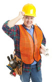 Polite Female Construction Worker poster