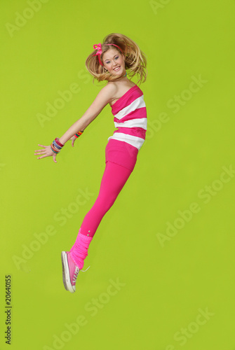 happy jumping teen dancer