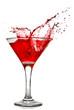 In Lightbox.  Red cocktail with splash. artjazz.  Просмотры:447.