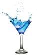 Blue curacao cocktail with splash.  In Lightbox. artjazz.  Просмотры:343.