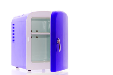 Blue miniature fridge