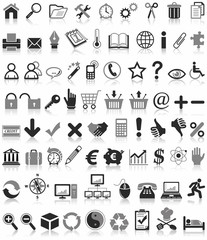 76 Internet, business and financial icons
