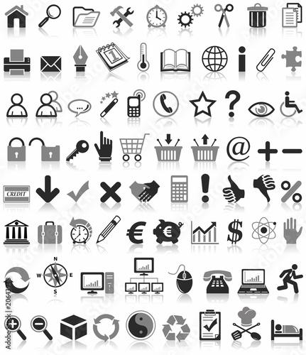 76 Ikony internetowe, biznesowe i finansowe
