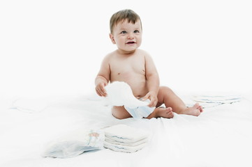 Baby boy with diapers