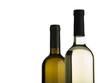 zwei flaschen weißwein isoliert